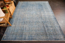 Load image into Gallery viewer, 8' x 10'7 Oushak Carpet Denim Blue Overdyed Vintage Rug