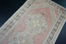 Load image into Gallery viewer, Turkish Oushak Runner 3'3 x 9'5 Pink, Gray + Cream