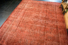 Load image into Gallery viewer, 9'7 x 12'4 Vintage Tabriz Rug Red Overdyed 1960's Handmade