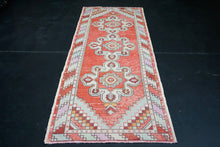 Load image into Gallery viewer, Turkish Oushak Runner 3'2 x 8'8 Red + Cream