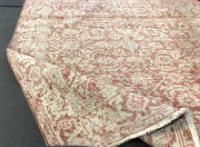 Load image into Gallery viewer, 4 X 7 Oushak Rug Rose Gold, Blush, Blue + Beige