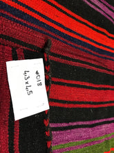 Load image into Gallery viewer, 4 x 4 West Anatolian Colorful Striped Striped Kilim Rug