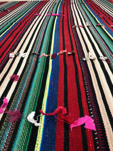6 x 8 MCM Filikli Kilim Red, Green, and Blue Striped