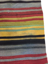 Load image into Gallery viewer, 5 X 5 Rug Turkish Kilim Multi-Colored Stripes