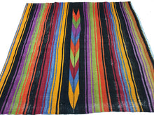 Load image into Gallery viewer, 4 x 4 Vintage Turkish Kilim Brightly Colored Striped