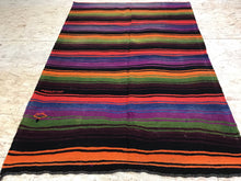 Load image into Gallery viewer, 5 x 7  MCM Kilim Brightly Colored Stripes