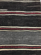 Load image into Gallery viewer, 3' x 11' Tribal Runner Black & White