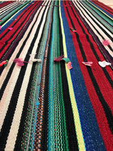Load image into Gallery viewer, 6 x 8 MCM Filikli Kilim Red, Green, and Blue Striped