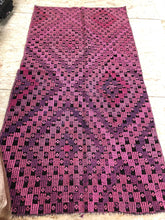 Load image into Gallery viewer, 4 x 7 Pink Vintage Turkish Small Kilim Rug Runner Embroidered  Overdyed Cicim Carpet 1970's