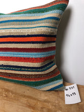 "Load image into Gallery viewer, 14"" X 19"" MCM Multi Colored Striped Pillow"