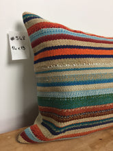 "Load image into Gallery viewer, 14"" X 19""MCM Pillow Multi Colored Striped"