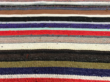 Load image into Gallery viewer, 10x10 MCM Striped Vintage Kilim
