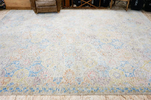 10' x 14' Oushak Rug Silk and Wool 17th Century Persian Design