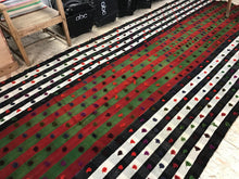 Load image into Gallery viewer, 5'9 x 12'5 MCM Kilim Red, Green, Black, and White