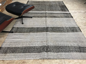 Scandinavian Style MCM 6 x 10 Gray Vintage Turkish Kilim
