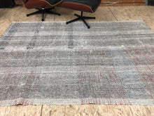 Load image into Gallery viewer, 5 x 8 MCM Kilim Gray, Black and Brown