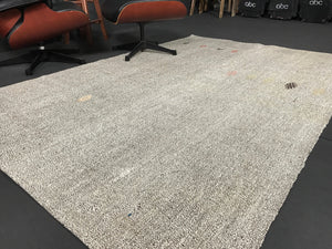 5 x 7 MCM Turkish Kilim Cream & Black Tweed Rug
