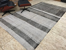 Load image into Gallery viewer, Scandinavian Style MCM 6 x 10 Gray Vintage Turkish Kilim