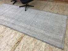 Load image into Gallery viewer, 4 x 9 MCM Rug Runner Gray & Black Tweed