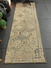 Load image into Gallery viewer, 3 X 10 Jijim Runner Rug Vintage Turkish Embroidered  Pastel Green