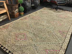 5'6 x 10' Turkish Kilim Jijim Greens Pink Black Cicim