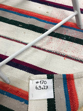 Load image into Gallery viewer, Mid-Century Modern 7 x 7 Turkish Kilim White Orange and Blue