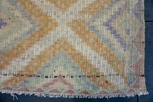6 x 9 Jijim Kilim Vintage Turkish Desert Colors Pastel