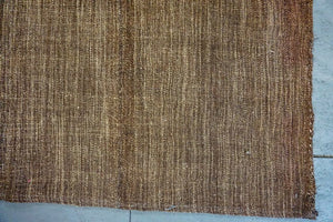 7'x8' Turkish Kilim Rug MCM Brown Tweed Vintage