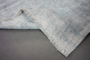 Hemp Kilim 5 x 8 Scandinavian Style MCM Slate Gray Pure Organic Hemp Vintage Turkish