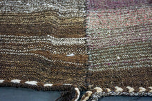 Load image into Gallery viewer, MCM 7 X 13 Turkish Kilim Eggplant & Brown Tweed
