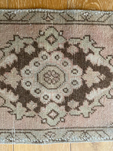 Load image into Gallery viewer, 1'6 x 2'11 Vintage Turkish Oushak Rug 70's Muted Copper, Tan and Brown