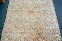 Load image into Gallery viewer, Oushak Runner 3 x 10'8 Golden Beige and  Blush Pink Turkish Rug