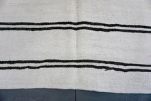 Load image into Gallery viewer, 6'3 x 11'3 MCM Kilim Rug White & Brown