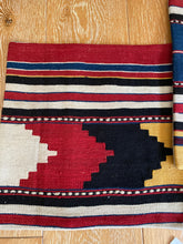 "Load image into Gallery viewer, Set of 2 Vintage Turkish Kilim Pillows 16"" x 16""  Wool Carpet Fragment 1970's (cover only)"