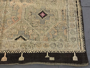 6 X 10 Vintage Turkish Kilim Pastel Colors & Brown