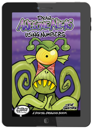 Download Draw Awesome Aliens Using Numbers to your tablet, smart phone, or computer