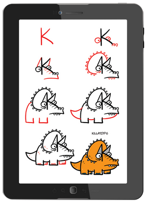 Draw Crazy Dinosaurs (Digital Book)