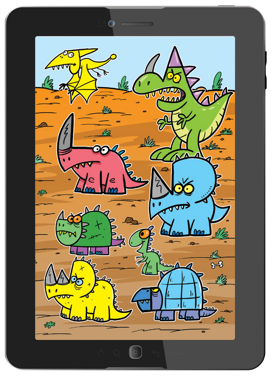 Check out all the amazing and fun dinosaurs you get to draw with this book.