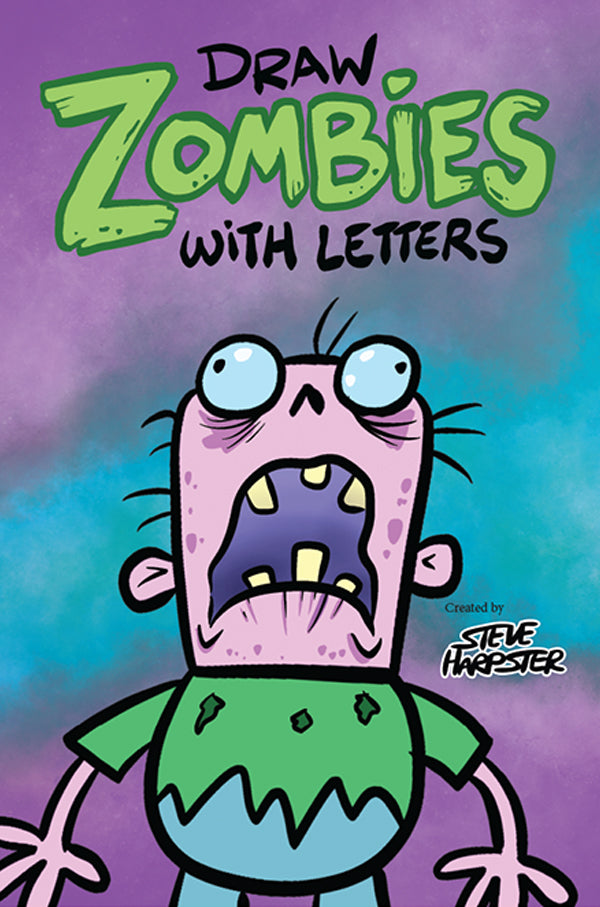 Learn how to draw zombies using letters with this amazing how-to-draw book