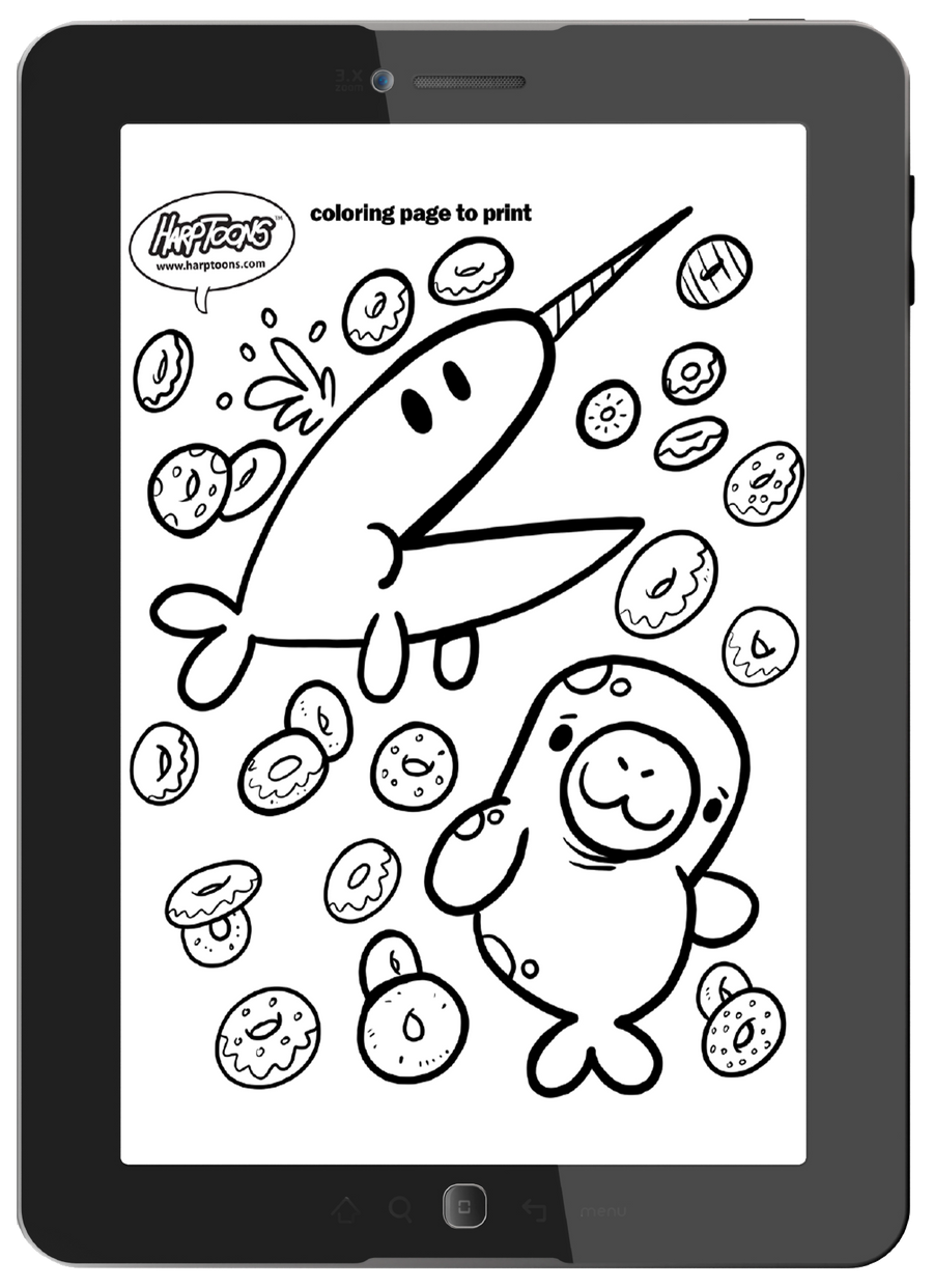 Print off coloring pages and how-to-draw pages to use over and over again.