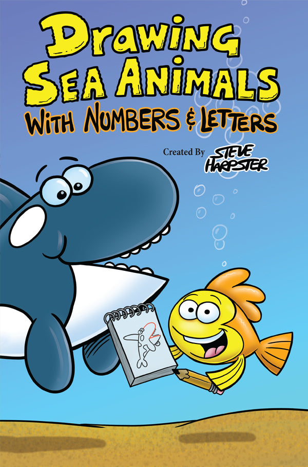 Drawing Sea Animals With Numbers Letters Shop Harptoons
