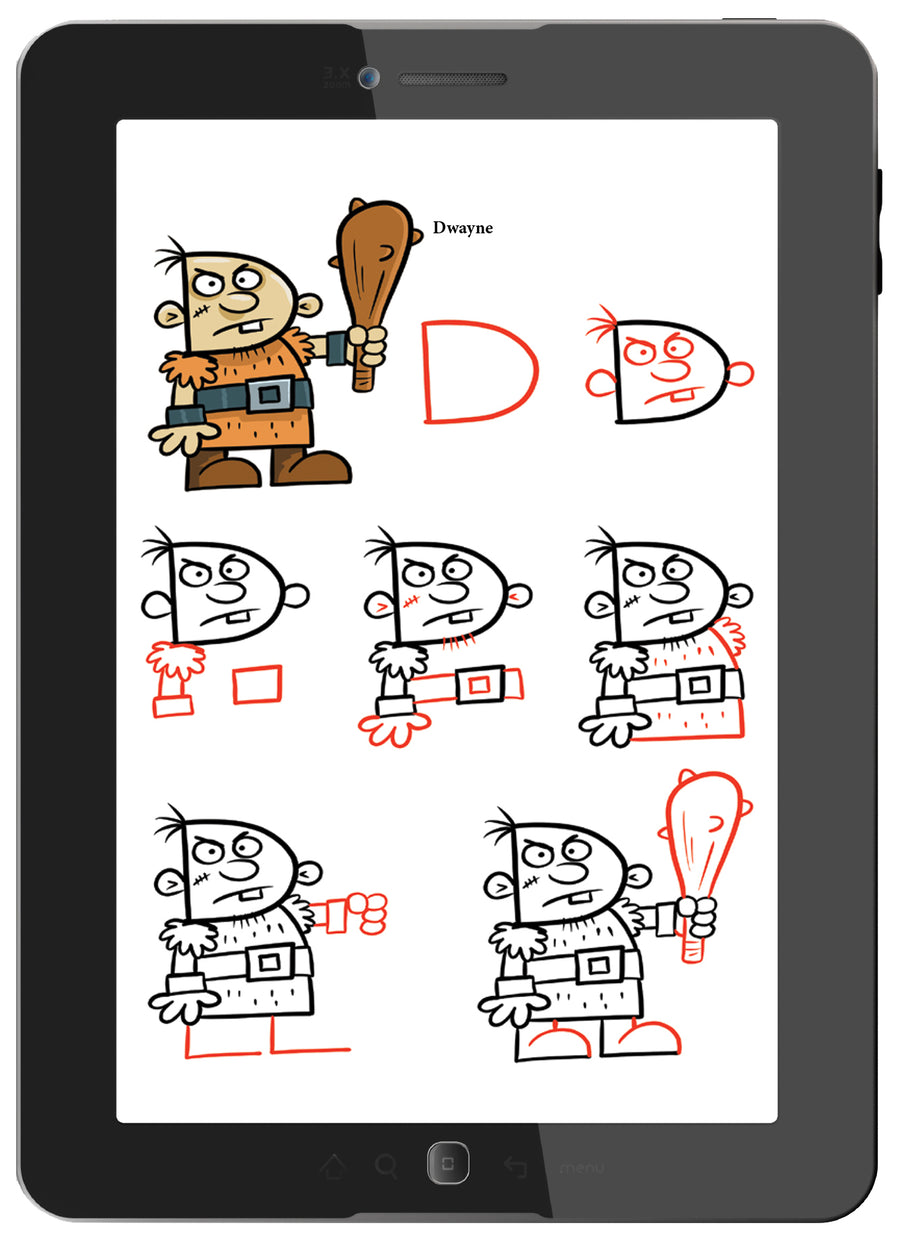 Step-by-step drawing instructions make drawing simple and fun for everyone.