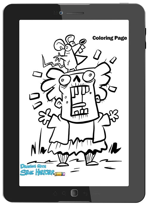 Print off drawing pages, and coloring pages for kids to use.