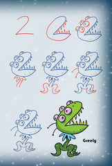 Draw Awesome Aliens and Rad Robots With Numbers and Letters