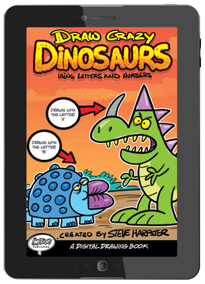Download your digital copy of Draw Crazy Dinosaurs to your phone or tablet.