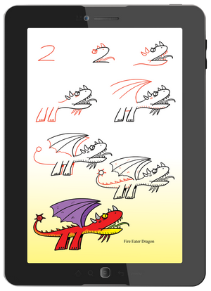 Learn how to turn numbers into dragons with no erasing.