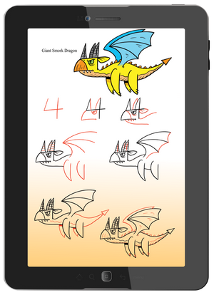 simple, full color, step-by-step drawing lessons