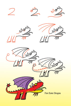 easy-to-follow drawing steps make drawing dragons simple for artists of all ages.