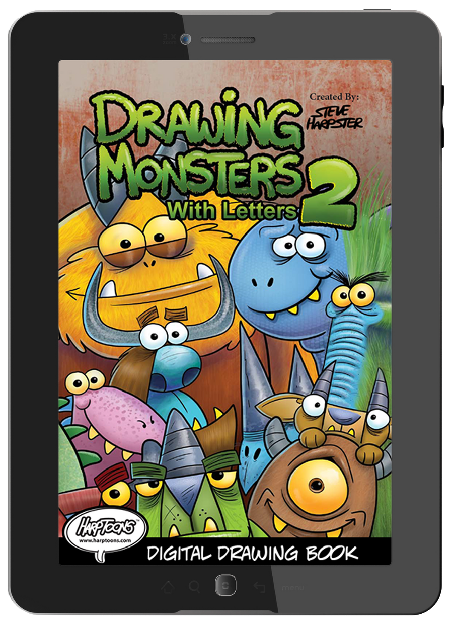 Drawing Monster Withe Letters 2 in digital download for smartphones and tablets