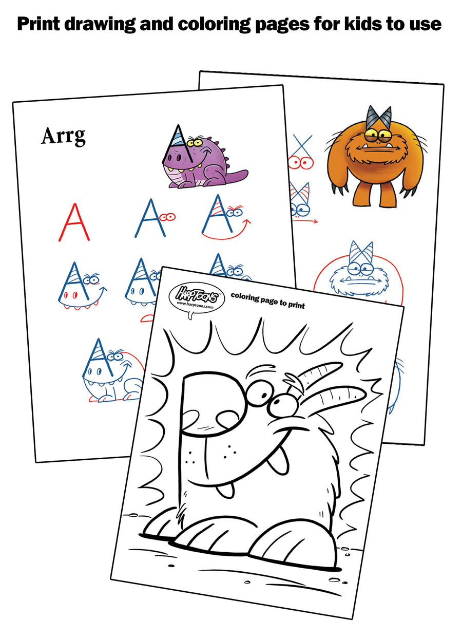 Print off drawing and coloring pages to share with kids